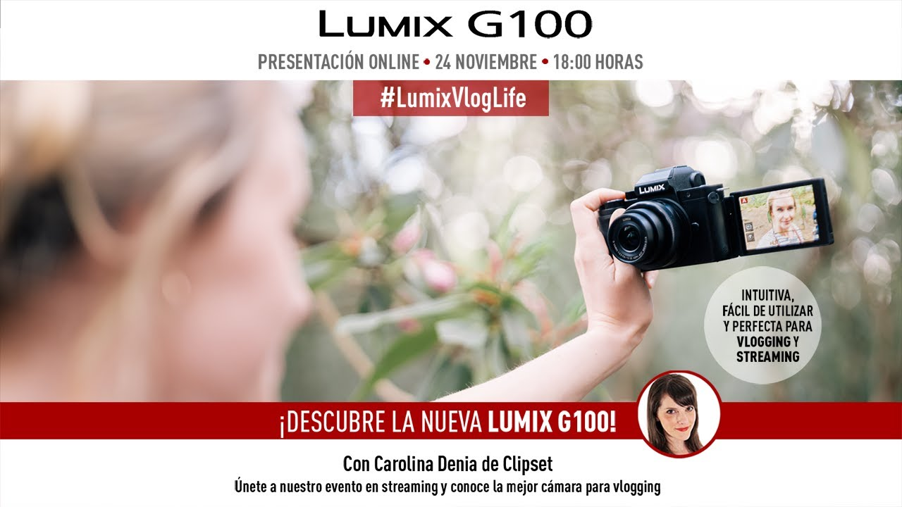 LUMIX G100 - presentación online