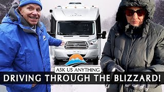 We're Back! Our Trip Through The Blizzard In Our New RV