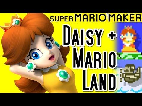 Super Mario Maker PRINCESS DAISY Update - Amiibo & Mario Land Course (Wii U)