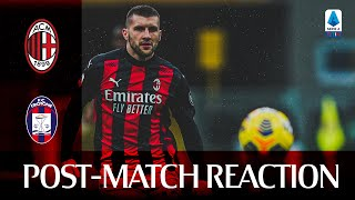 #MilanCrotone | Post-match reactions