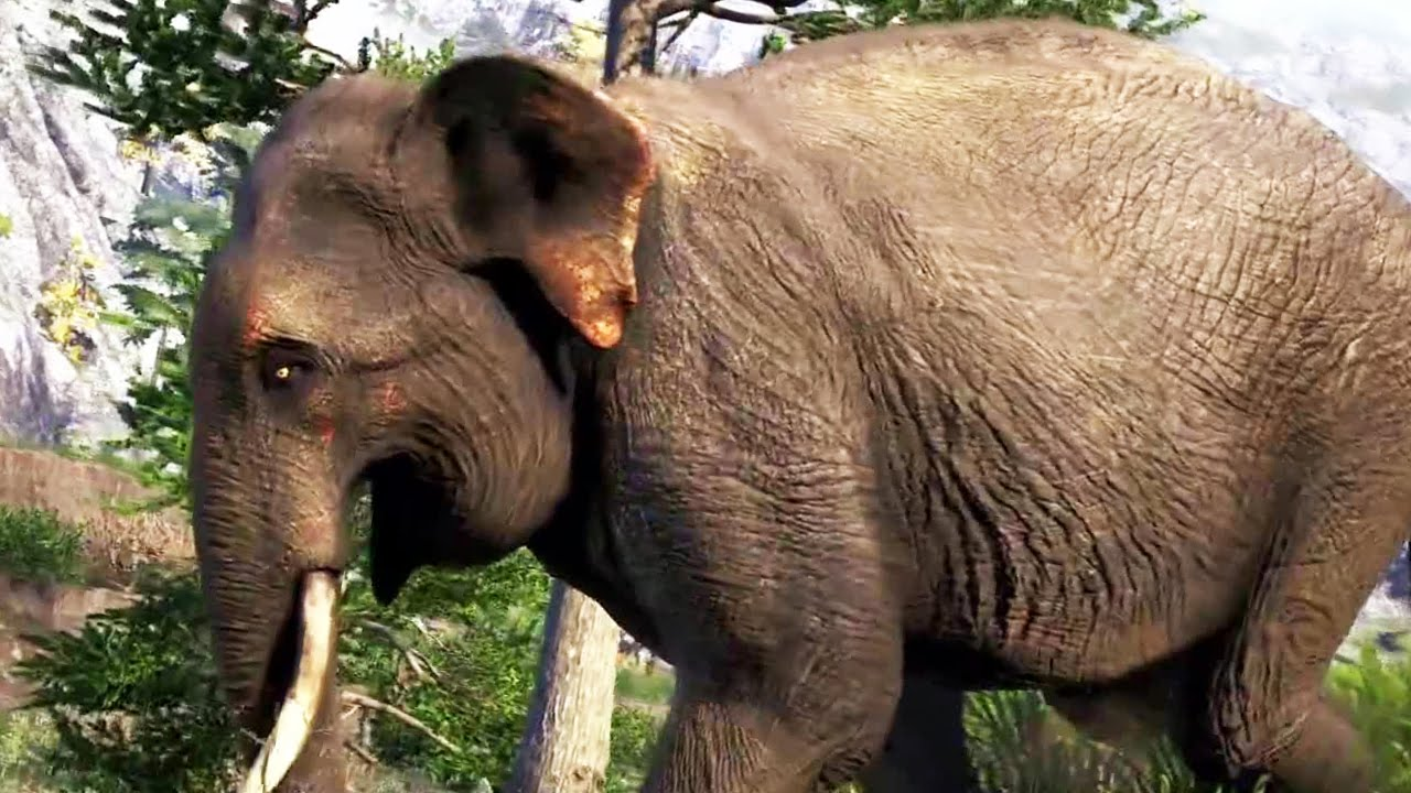 Far Cry 4 Wallpaper Elephant: FAR CRY 4 Elephant Attack !