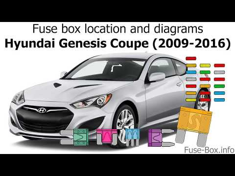 fuse box location and diagrams: hyundai genesis coupe (2009-2016) - youtube  youtube