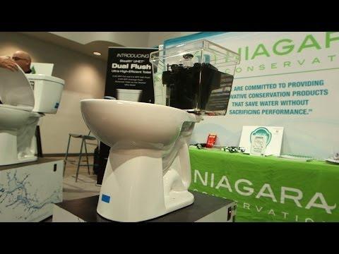 Powerful Niagara toilet uses less water | Consumer Reports