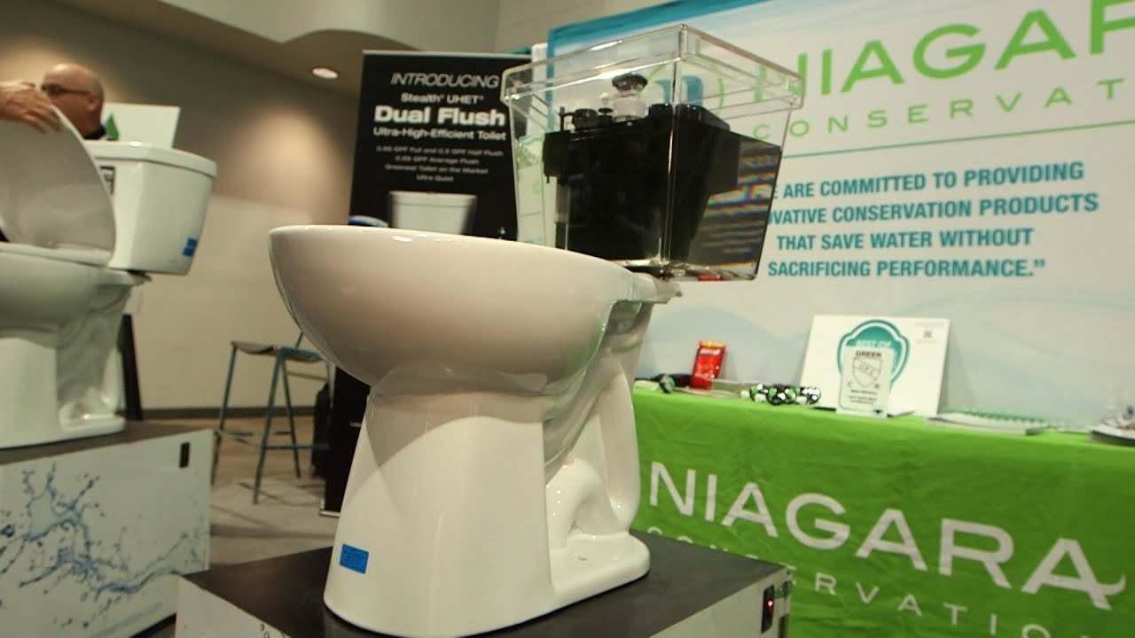Powerful Niagara toilet uses less water | Consumer Reports - YouTube