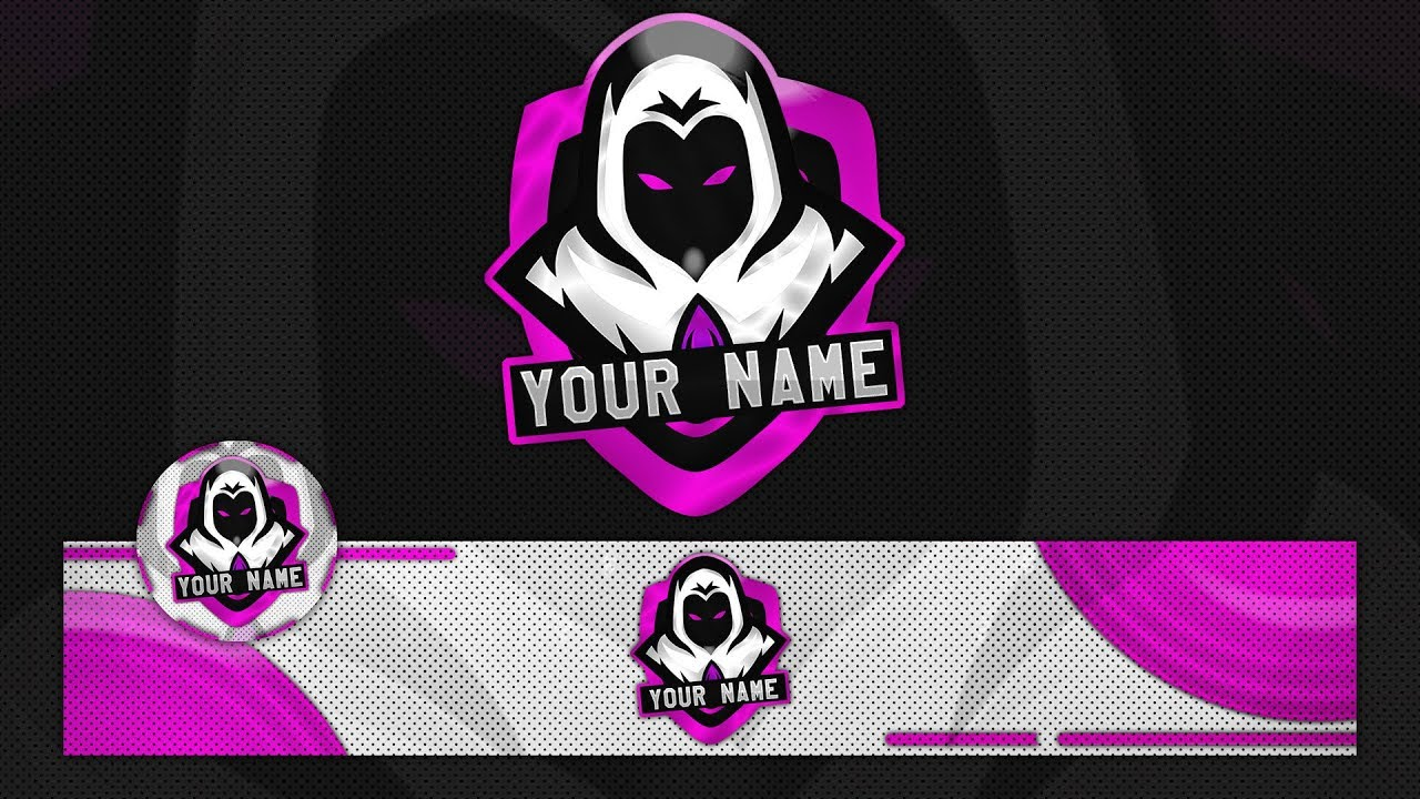 FREE Ghost GAMING LOGO W Banner Template 2018