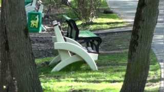 Новые скамейки в Филевском парке!