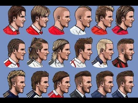 David Beckham Change hairstyle - YouTube