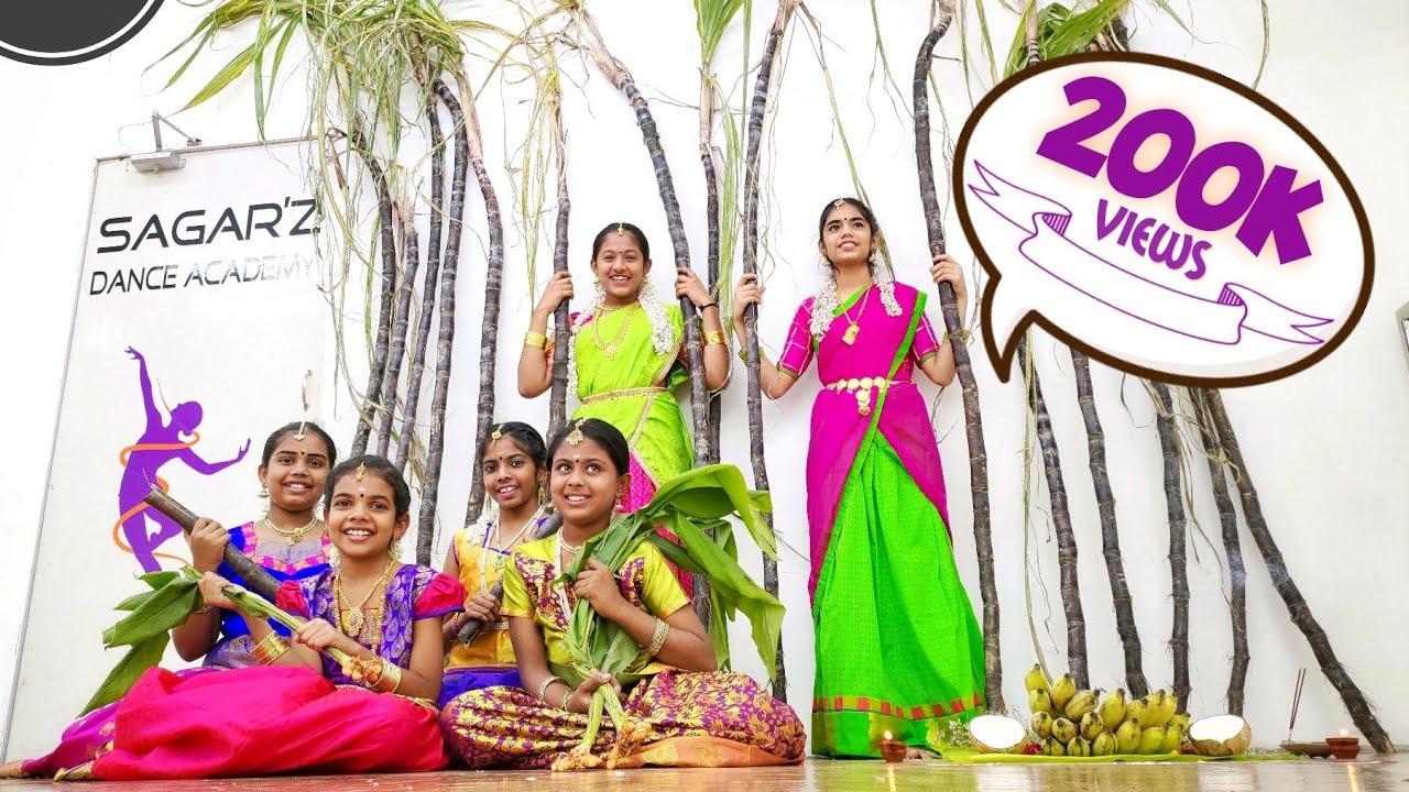 Download Pongalo Pongal | Mahanadhi | Sagarz Dance Academy | Kids Dance video | Pongal Celebrations