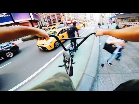 RIDING MY NEW BIKE IN NYC STREETS (BMX IN THE HOOD)