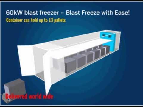 Portable Blast Freezers - CRS 60kW Cold Storage Blast Freezer