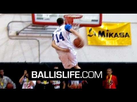 Zach LaVine SHUTS DOWN High School Dunk Contest! NASTY Behind The Back & Reverse Eastbay To Win It!