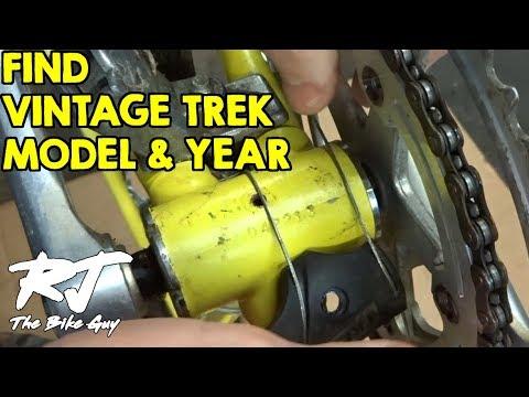 How To Find Model/Year Of Vintage Trek Bike By Serial Number