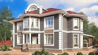 Проект дома в классическом стиле. Дом с эркером, сауной, террасой и балконом. Ремстройсервис KR-239