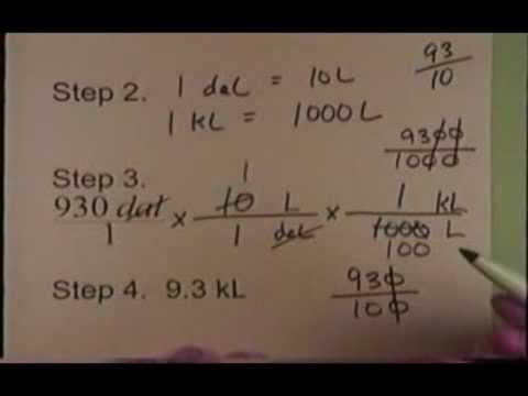 Introduction to the Metric System  Pt4
