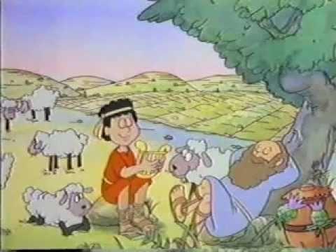 DESENHO BIBLICO  DAVI E GOLIAS PARTE  1