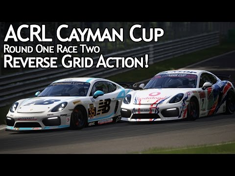 ACRL Cayman Cup R1R2: Reverse Grid Action! (Cayman GT4 @ Monza)