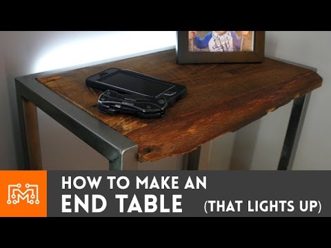 Bedside Table With A Built In Night Light How To