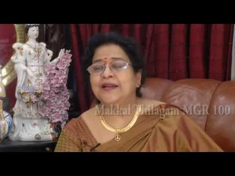 """Actress Geethanjali says,""""MGR is God""""."""
