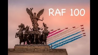 What a sight ! RAF 100 flypast over Hyde Park corner London