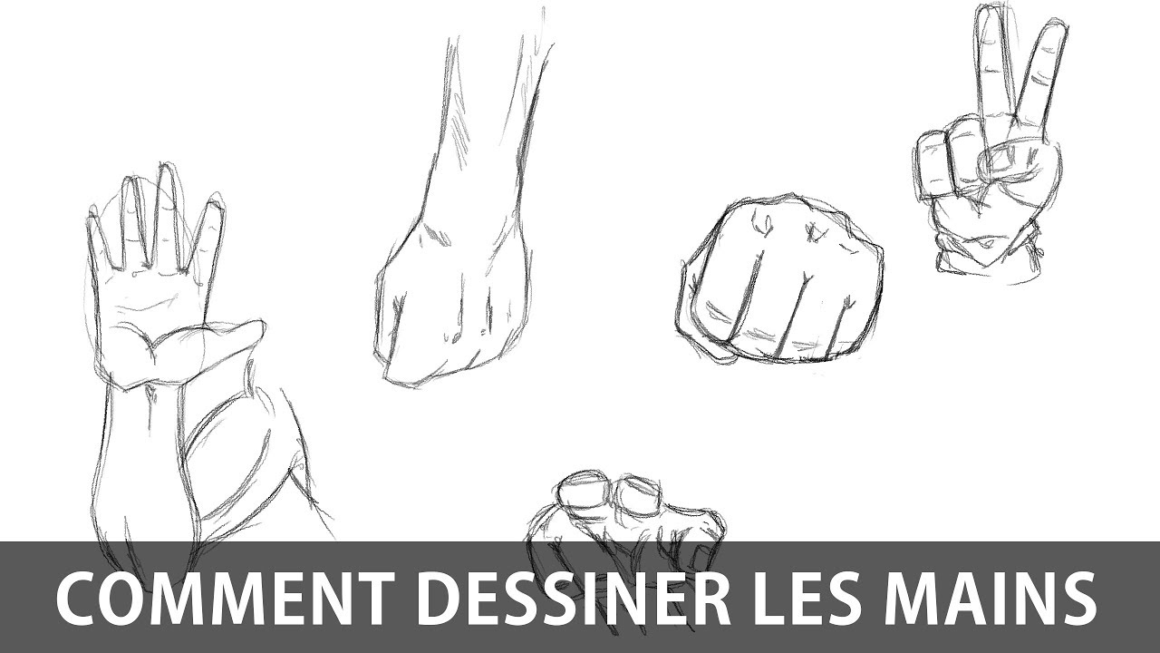 Comment dessiner les mains tutoriel manga youtube - Dessin de mains ...