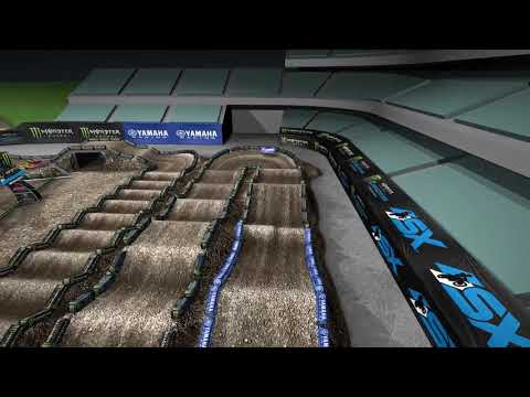 La piste virtuelle du Supercross d'Anaheim 1 2020.