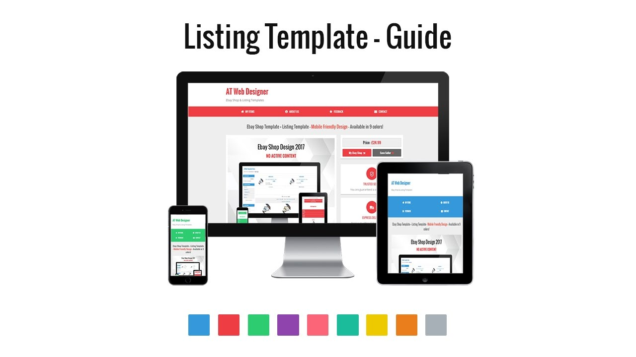 Ebay Shop Listing Template Guide YouTube - Ebay product listing template