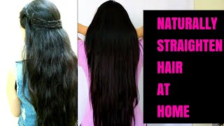 PERMANENT HAIR STRAIGHTENING AT HOME | How to get Straight, silky , frizz free hair at home