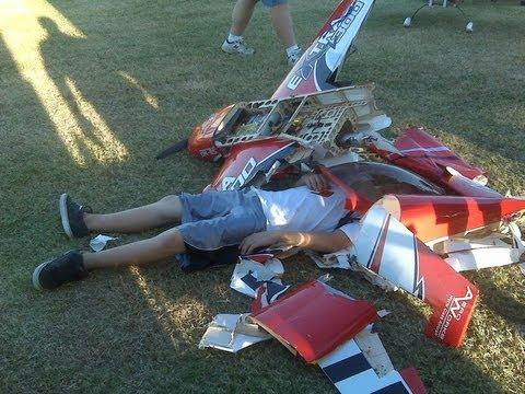 Rc Model Aircraft Hangar 9 Space Walker Plane Crash By Roy