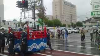 2012年9月23日に行われた 会津まつり 先人感謝祭 会津藩公行列での国広...