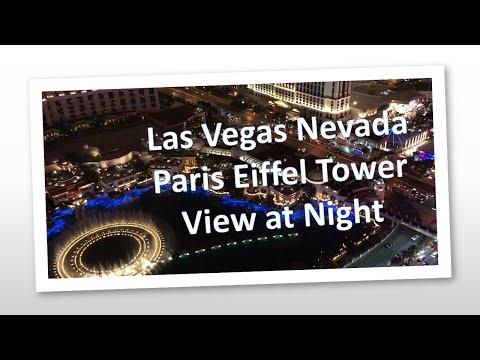 Las Vegas Nevada Paris Eiffel Tower View at Night | 2019