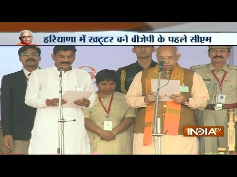 Live: Manohar Lal Khattar takes oath as Haryana's first BJP CM