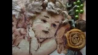 Вышивка Лентами - Ангелочки