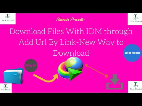 Download Files With IDM Through Add URL Option. (Easily)[Urdu/Hindi]