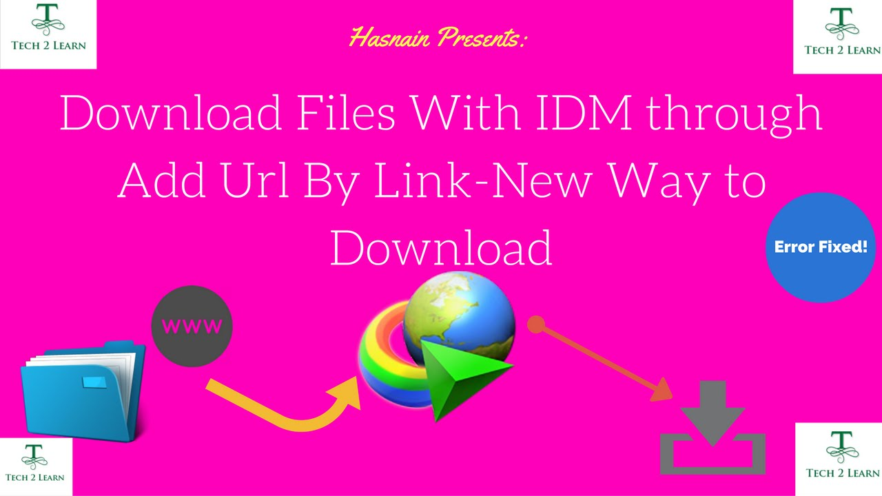 Download Files With IDM through Add URL Option  (Easily)[Urdu/Hindi]