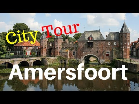 Amersfoort, The Netherlands (City Center Tour) Walking and Cycling .. GoPro