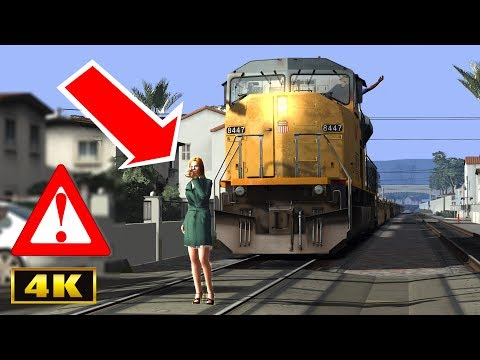 FREIGHT TRAIN RUNS OVER PERSON!🚷⚠️😨 |