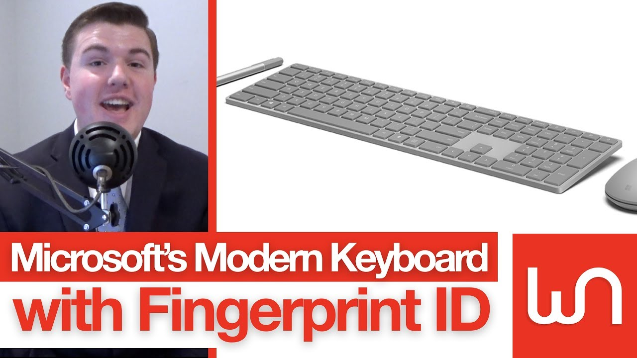 a9ea15133bd Microsoft's Modern Keyboard Has A Fingerprint Scanner - YouTube