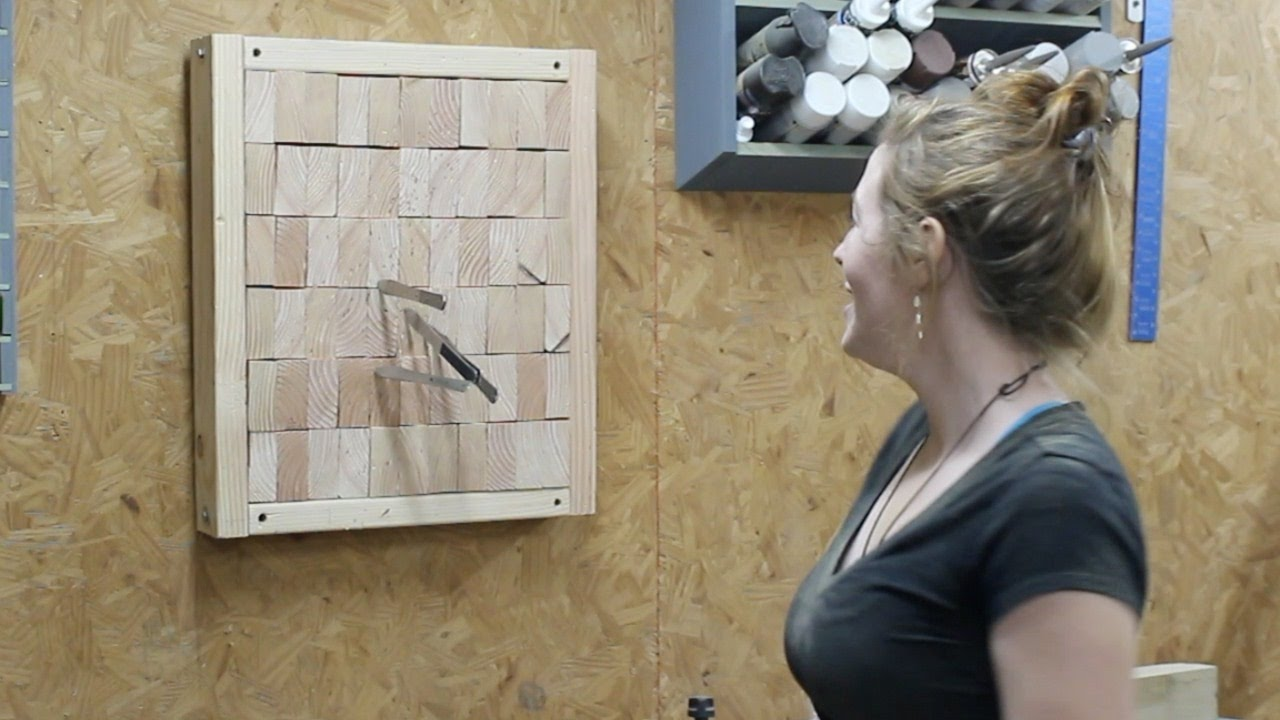 Making An End Grain Knife Throwing Target Youtube