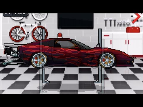 Pixel Car Racer - FIRST 3700hp C6 Corvette Top Speed Build- 442kph | SLAPTrain