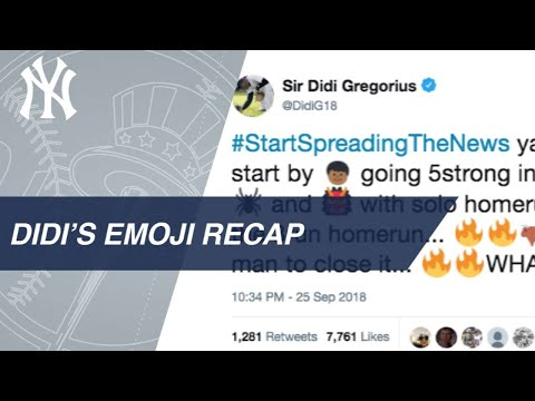 Didi tweets about the Yankees' 9-2 win over the Rays