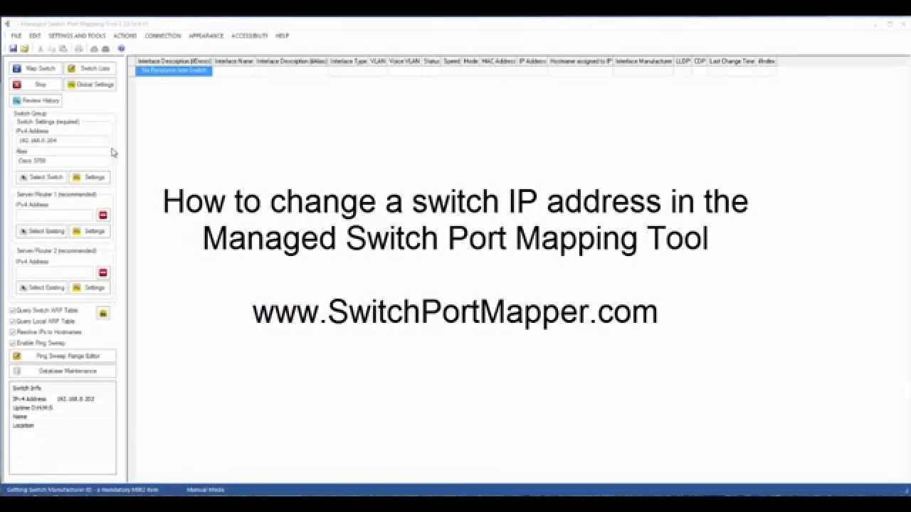 Videos of the Managed Switch Port Mapping Tool