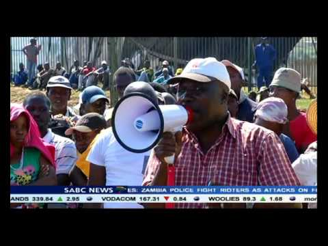 A huge police contingent deployed to Pietermaritzburg following violent protests