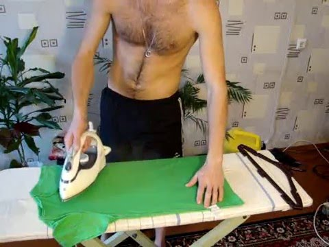 Как правильно гладить футболки