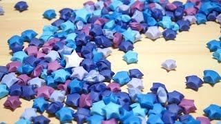 使うのは画用紙とハサミだけ!ラッキースターの作り方! how to make lucky star thumbnail