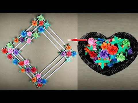 Wall Decoration Idea: How to Make Beautiful Flower hanging for Wall Decoration | sb crafts