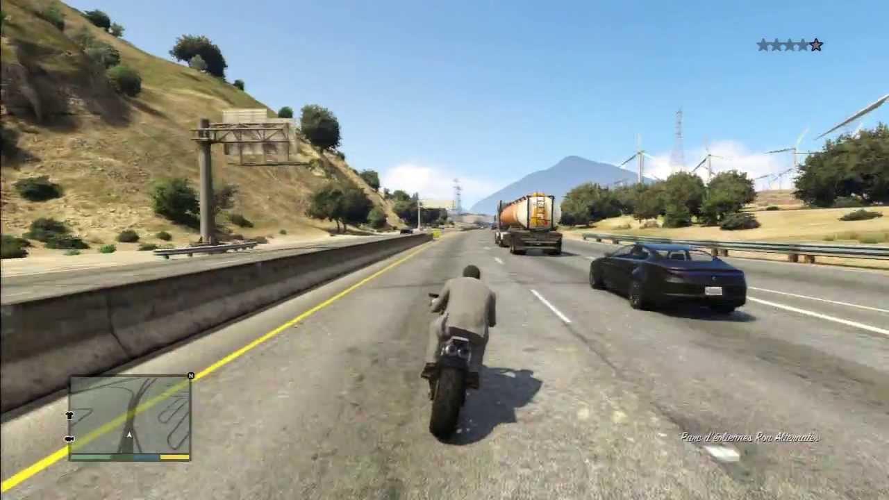 Gta 5 Very Fast Driving On High Way Bike Youtube
