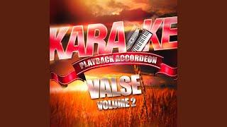 Tendresse musette (valse) (karaoké playback complet avec accordéon)