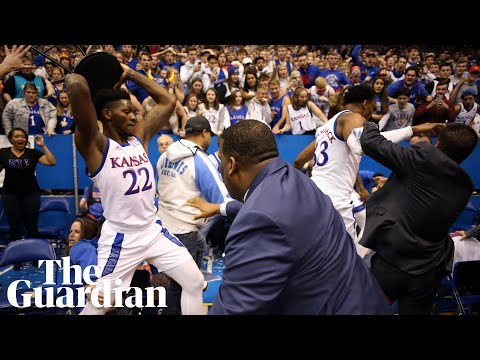 Brawl breaks out at the end of Kansas college basketball game