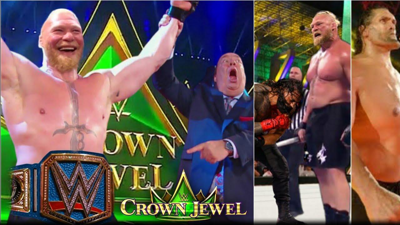 Brock WINS Universal Championship from Roman !! Finn Wins, Khali Returns -WWE Crown Jewel Highlights