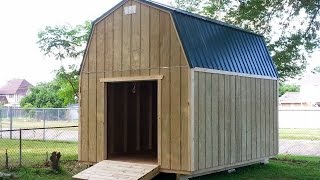 12x16 Barn(gambrel) Shed 2 - Shed Plans - Stout Sheds Llc